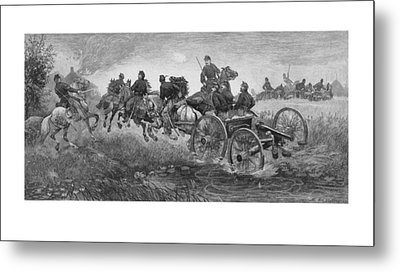 Going Into Battle - Civil War Metal Print by War Is Hell Store