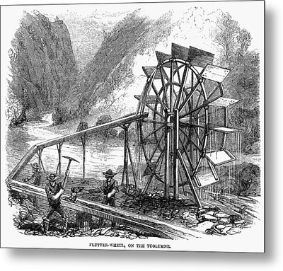 Gold Mining, 1860 Metal Print by Granger