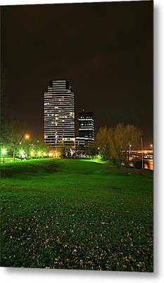 Grand Rapids Mi Under The Lights-5 Metal Print by Robert Pearson
