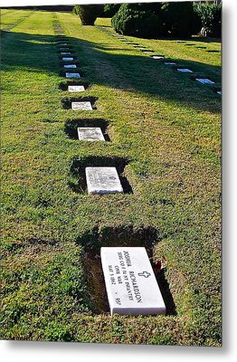 Graves In Formation Metal Print by E Robert Dee