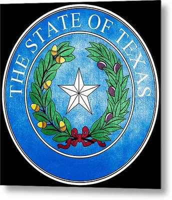Great Seal Of The State Of Texas Metal Print by Fry1989
