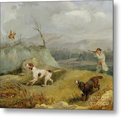 Grouse Shooting  Metal Print by Henry Thomas Alken