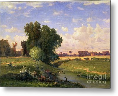Hackensack Meadows - Sunset Metal Print by George Snr Inness