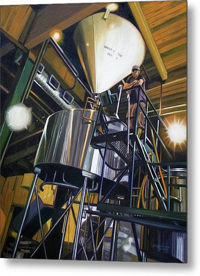 Hales Ales  Composition In Secondary Color Metal Print by Gregg Hinlicky