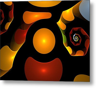 Happy Digit Metal Print by Steve K