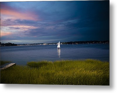 Harborview Sunset Metal Print by Joshua Francia