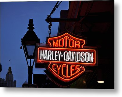 Harley Davidson New Orleans Metal Print by Bill Cannon