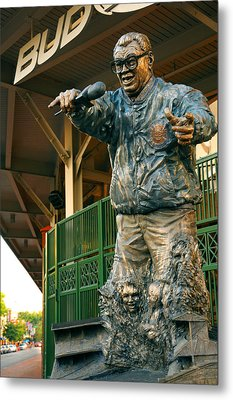 Harry Caray Metal Print by Anthony Citro