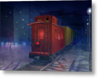 Hear That Lonesome Whistle Metal Print by Carol and Mike Werner