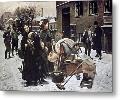Henningsen  Evicted 1890 Metal Print by Granger
