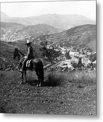 Hills Of Guanajuato - Mexico - C 1911 Metal Print by International  Images