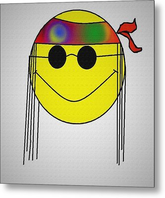 Hippie Face Metal Print by Bill Cannon