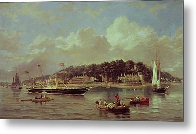 Hm Yacht Victoria Metal Print by George Gregory