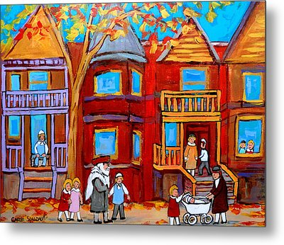 Hutchison Street Sabbath In Montreal Metal Print by Carole Spandau