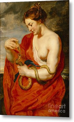 Hygeia - Goddess Of Health Metal Print by Peter Paul Rubens