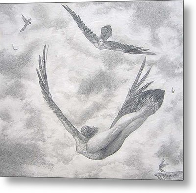 Icarus Suits Metal Print by Julianna Ziegler