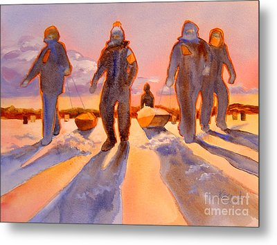 Ice Men Come Home Metal Print by Kathy Braud