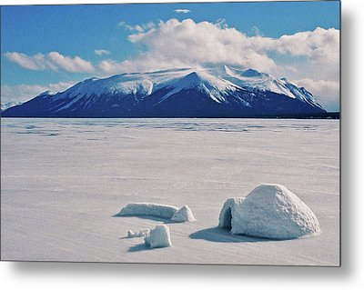 Igloo On Atlin Lake - Bc Metal Print by Juergen Weiss