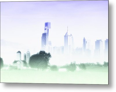 In A Fog Metal Print by Bill Cannon