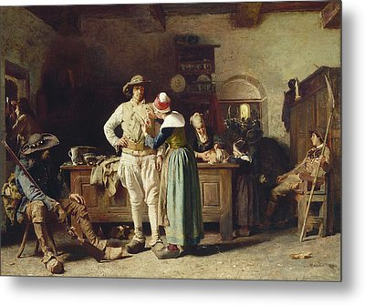 In Hoc Signo Vinces Metal Print by Thomas Hovenden