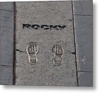 In The Footsteps Of Rocky Metal Print by Bill Cannon