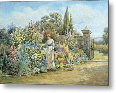 In The Garden Metal Print by William Ashburner