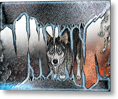 Inside The Monsters Jaws Metal Print by Cheri Doyle