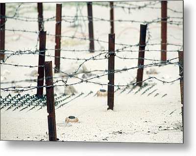 Iraqi Anti-personnel Mines And Barbed Metal Print by Everett