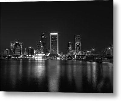 Jacksonville Landing At Night Metal Print by Sharon Batdorf