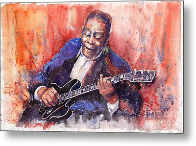 Jazz B B King 06 A Metal Print by Yuriy  Shevchuk