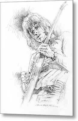 Jeff Beck - Truth Metal Print by David Lloyd Glover