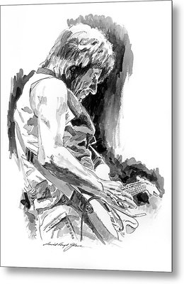 Jeff Beck In Concert Metal Print by David Lloyd Glover