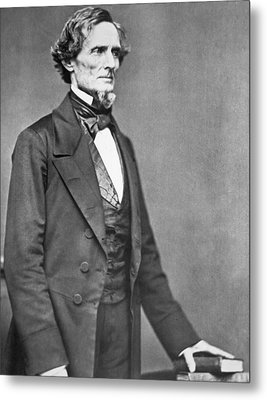 Jefferson Davis Metal Print by American Photographer