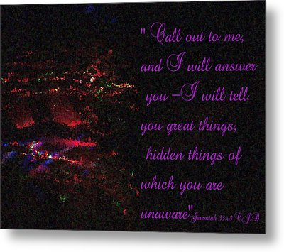 Jeremiah 33v3 Moving Lights  Impressionist Painting Metal Print by Dawn Hay