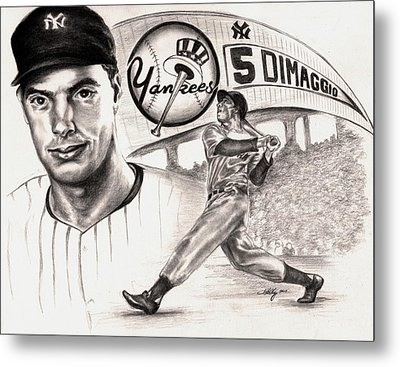 Joe Dimaggio Metal Print by Kathleen Kelly Thompson