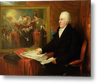 John Eardley Wilmot  Metal Print by Benjamin West