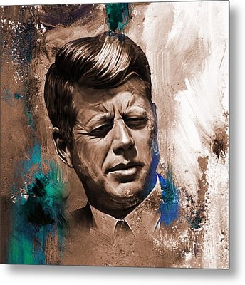 John F. Kennedy 02 Metal Print by Gull G