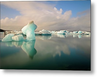 Jokulsarlon Glacier Lagoon Icebergs Metal Print by Stealing Beauty Photography