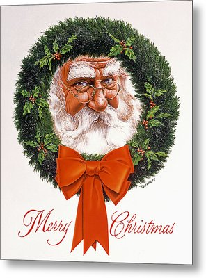 Jolly Old Saint Nick Metal Print by Richard De Wolfe
