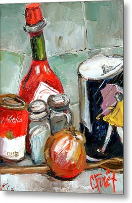Kitchen Counter Metal Print by Carole Foret
