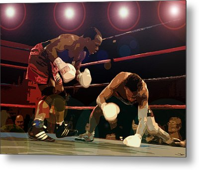 Knockdown Metal Print by David Lee Thompson