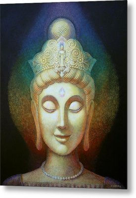 Kuan Yin's Light Metal Print by Sue Halstenberg
