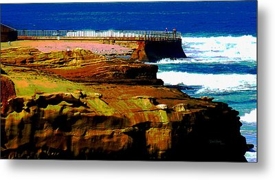 La Jolla Rocks 2 Wall Metal Print by Russ Harris