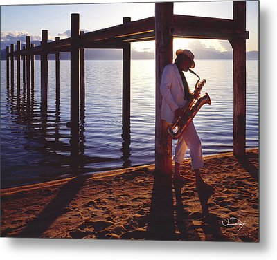 Lake Tahoe Sax Metal Print by Vance Fox