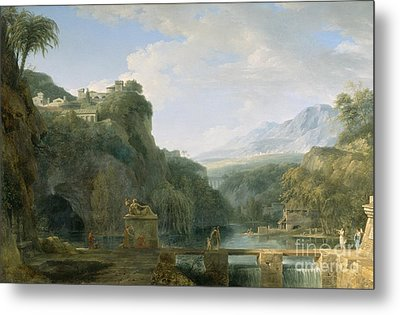 Landscape Of Ancient Greece Metal Print by Pierre Henri de Valenciennes