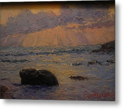 Late Light Knights Point Metal Print by Terry Perham