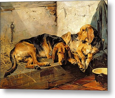 Lazy Moments Metal Print by John Sargent Noble