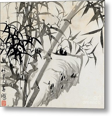 Leaf C Metal Print by Rang Tian