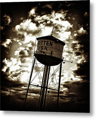 Leaning Tower Of Texas Metal Print by Dennis Sullivan