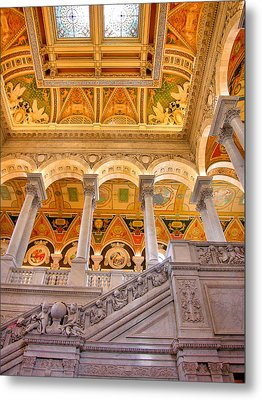 Library Of Congress II Metal Print by Steven Ainsworth